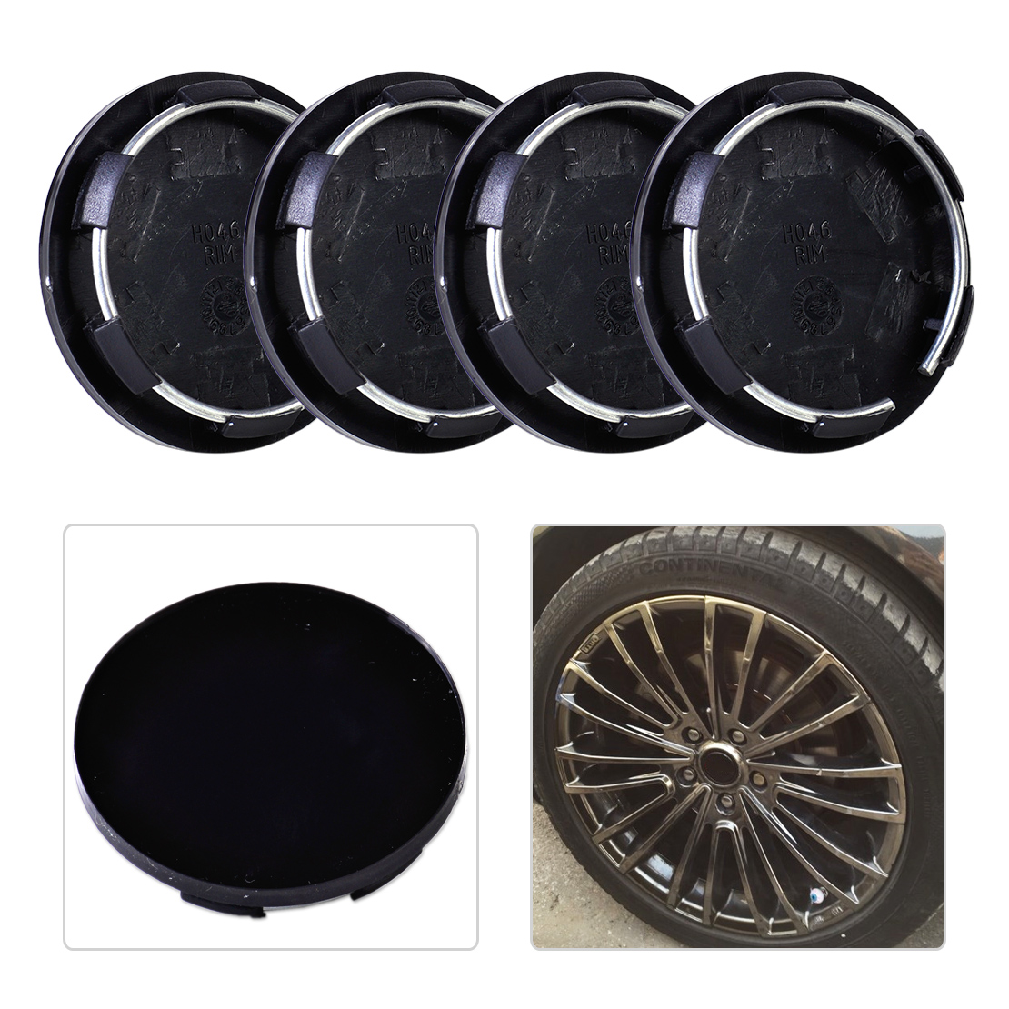 beler 4pcs 50mm Plastic <font><b>Wheel</b></font> Center Hubcap Set Tyre Trim Rim <font><b>Hub</b></font> Caps <font><b>Covers</b></font> <font><b>Car</b></font> Auto for VW Audi Ford Toyota Chevrolet Nissan image