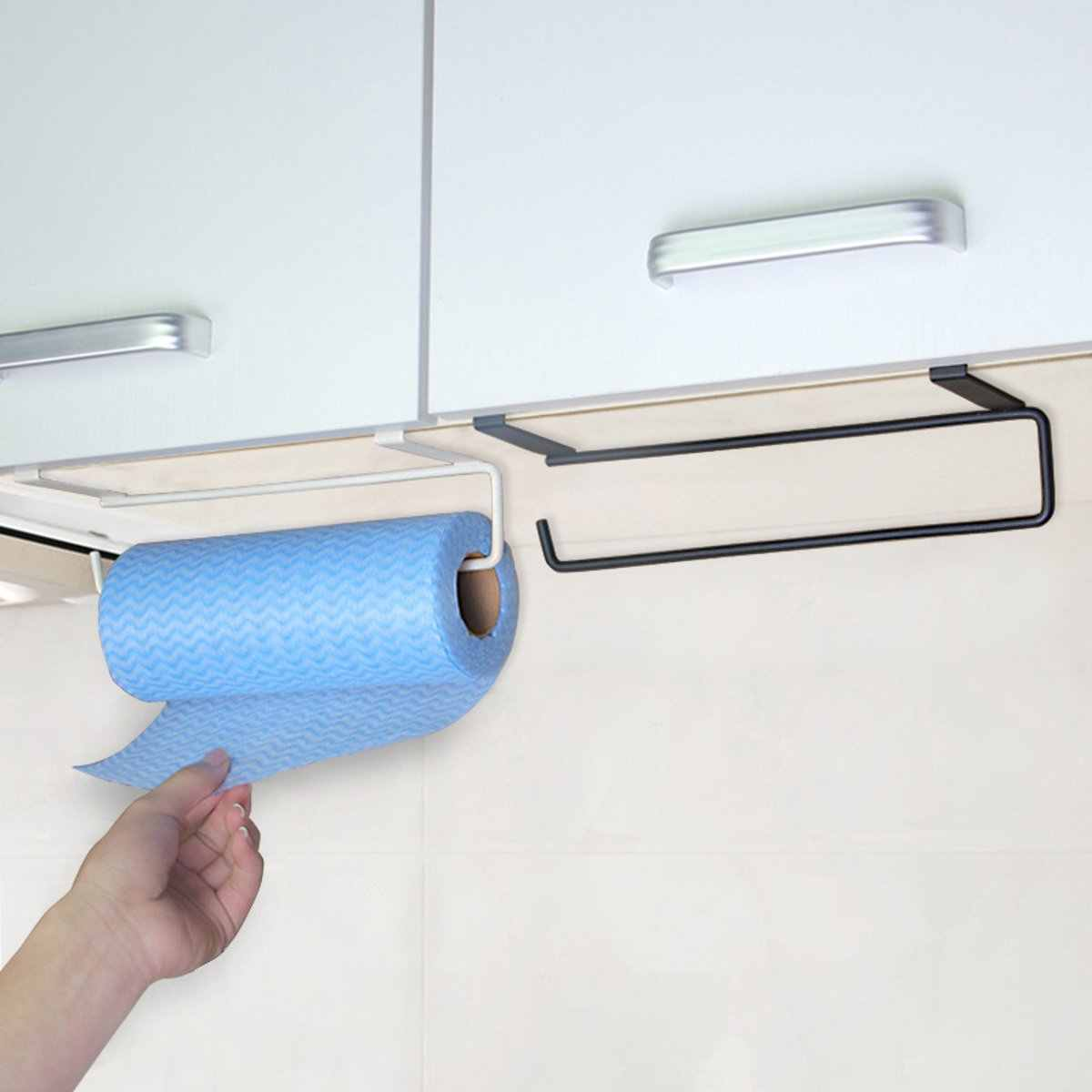 Metal Iron Towel Rack Storage Holder Hanging Kitchen Roll Paper Organizer Tissue Hanger Towel Bar Bathroom Kitchen Hardware