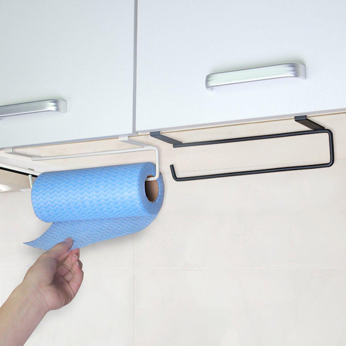 Metal Iron Towel Rack Storage Holder Hanging Kitchen Roll Paper Organizer Tissue Hanger Towel Bar Bathroom Kitchen Hardware