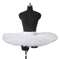Retail Ready To Ship White 7 Layers Half Dance Tutus For Ladies And Girls Performance Dance