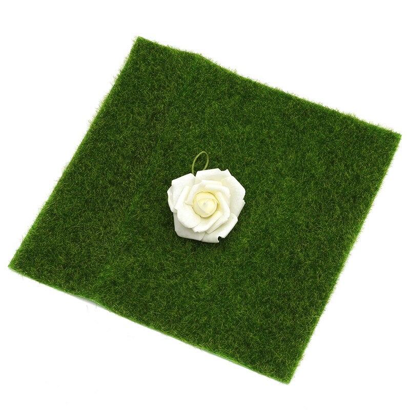 Modern Artificial Moss Grass Sheet Square Simulation Mat Model Scenery Craft Railway Diorama Floor Home Garden Decoration