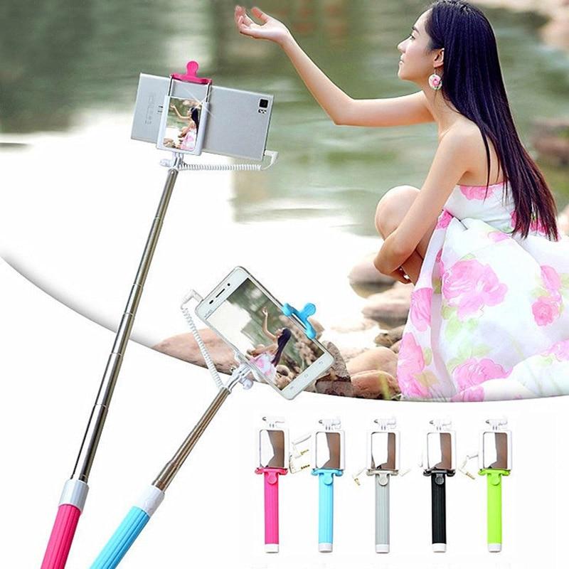 New Stainless Steel Portable Handheld Extendable Monopod Selfie Stick