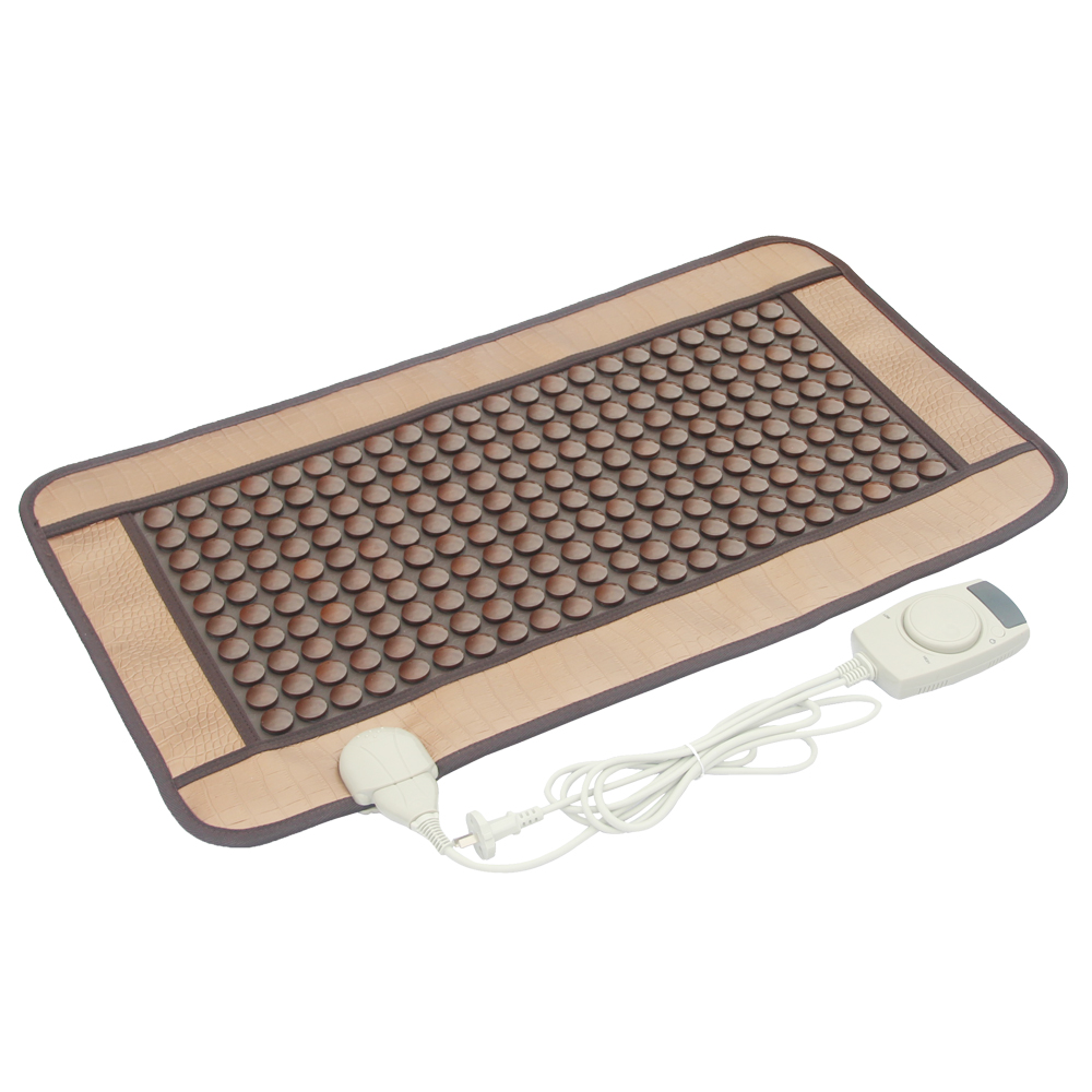 POP RELAX Mixed tourmaline jade infrared heating magnetic therapy flat mat Mattres Germanium/tourmaline stone physiotherapy pad pop relax electric vibrator jade massager light heating therapy natural jade stone body relax handheld massage device massager