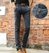 Повседневная полная длина тонкий карандаш брюки упругой моды летние и весенние мужчин джинсы Бесплатная Доставка MF741854