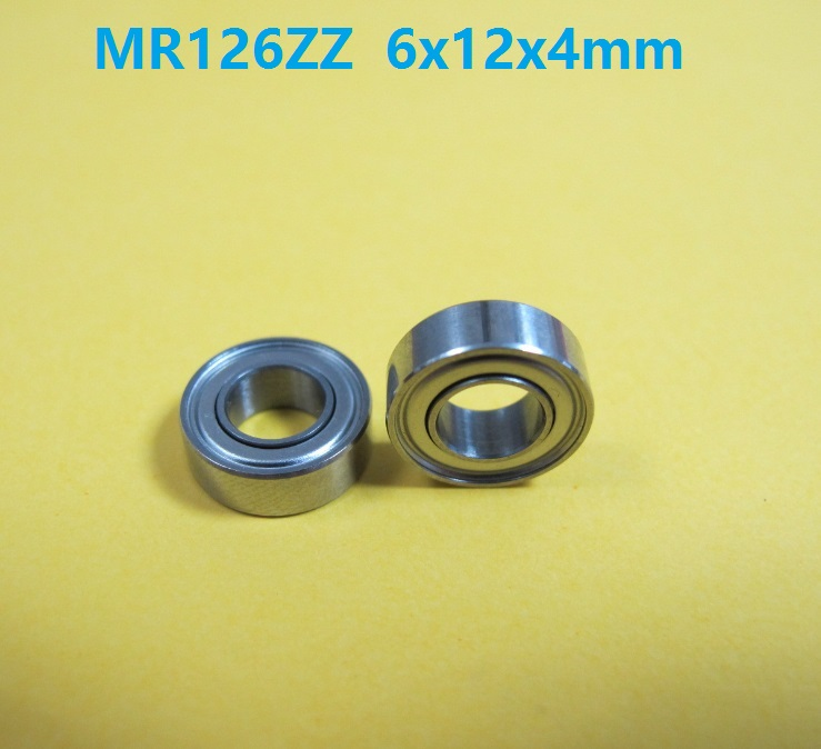 100pcs/lot MR126 ZZ <font><b>MR126ZZ</b></font> MR126Z 6x12x4 mm Mini deep groove Ball Bearing 6*12*4mm image