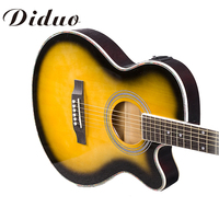 40 Inch 4 EQ Electric Acoustic Guitar Picea Asperata Panel Sapele Wood Guitarra With Guitar Pickup