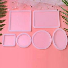 Chic Shape Silicone Mold For Resin Forms Crystal Diamond Bracelet Pendant Jewelry Doming Mold Resin Casting Rectangular mold chic shark teeth shape embellished bracelet for women