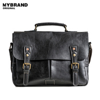 MYBRAND Genuine Leather Men Bag Men Briefcases Messenger Bags Crossbody Bags For Man Handbag Casual Men