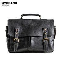 MYBRAND Genuine Leather Men Bag Men Briefcases Messenger Bags Crossbody Bags For Man Handbag Casual Men