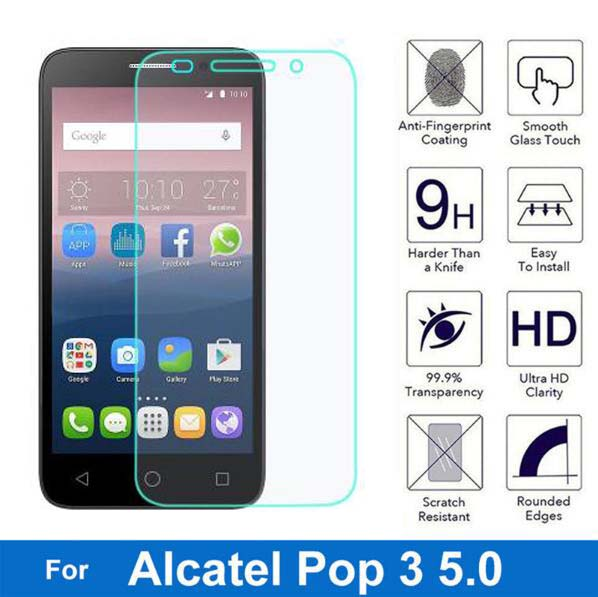 For Alcatel One Touch Pop 3 5.0 Screen Protector 2.5D Explosion-proof Tempered Glass Film For Onetouch Pop3 5 5015D 5065D 5015X