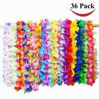 36カウント熱帯ハワイアンルアウフラワーレイパーティー好意装飾14 × 3 × 11イン