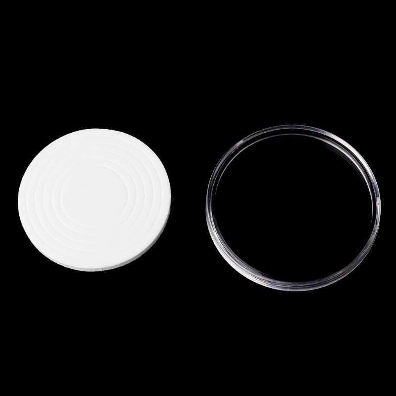 Caja de exhibición de la caja del almacenamiento de la cápsula del sostenedor de la moneda de 46mm con los anillos de la almohadilla de 5 tamaños