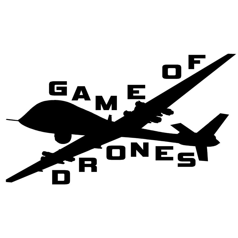 20.3CM*11.4CM Game of Drones - Military,Planes,Cars,Trucks Sticker Car Styling Decoration Car Stickers Black Sliver C8-1033