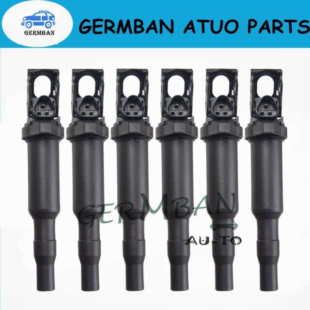 6 piezas bobinas de encendido para BMW 0221504470 E81 F22 F23 E46 E90 F33 X3 E83 No #12138616153 de 12137594596 de 12137571643 c1795 C1826 1