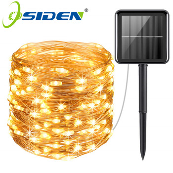 Solar light LED Outdoor LEDs String Lights Fairy Holiday Christmas Party Garland Solar Garden Waterproof Lights 8Mode 5M 10M 20M 1
