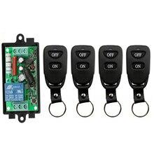 Draadloze Afstandsbediening Lichtschakelaar AC220V 1CH 10A Relais Output Radio Receiver Module + Riem gesp Zender garage deur lamp