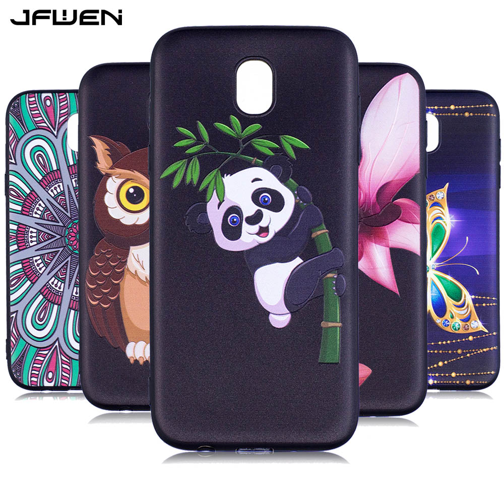 jfwen for coque samsung galaxy j5 2017 case silicone soft tpu 3d cute cartoon luxury phone cases