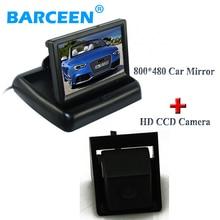 Водонепроницаемый IP 69 К автомобилей резервное копирование камера заднего вида 170 объектив угол + 4.3 «складной монитор автомобиля для Ssangyong new Actyon Korando