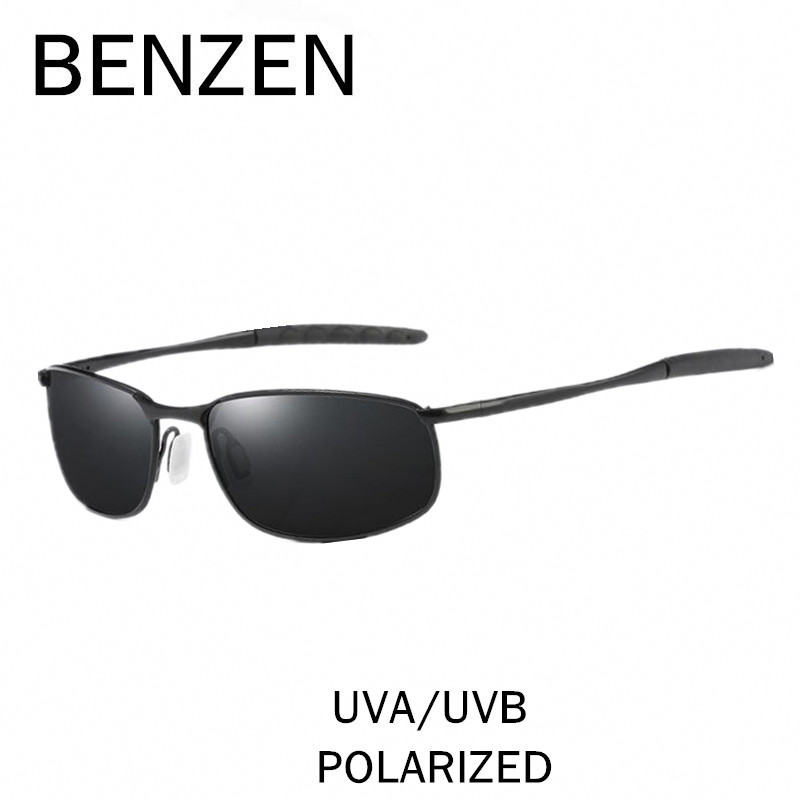 BENZEN Polarized Sunglasses Men Brand Designer Male Sun Glasses HD Driving Mirror Glasses Oculos Gafas With Case 9187