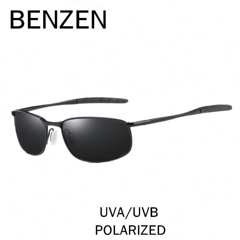 BENZEN Polarized Sunglasses Men Brand Designer Male Sun Glasses HD Driving Mirror Glasses Oculos Gafas With Case 9187