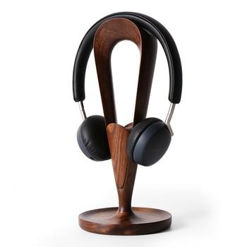 Deluxe Handmade Walnut Wood Earphone Holder Home Decoration Art Craft Furniture Birthday Gift Toy
