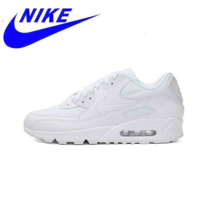 Zapatillas de deporte originales Nike para hombre WMNS AIR MAX 90 esenciales, zapatillas deportivas para exteriores para hombre 537384