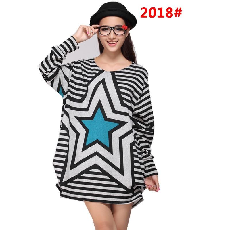Plus Size Fashion Pattern Womens Pullovers American European