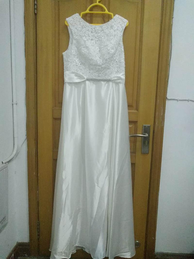 Элегантное вечернее платье с длинным аппликации платье для банкета, вечеринки Потрясающие сатиновое платье для выпускного вечера; Robe De Soiree vestido de festa - Цвет: Слоновая кость