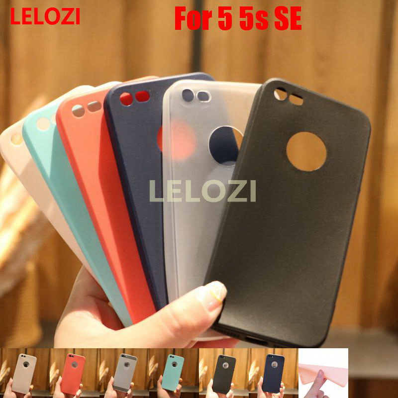 LELOZI Candy Colors TPU Rubber Phone Mobile Carcasa Etui Case Cover cubierta For iPhone 5 5s SE White Beautiful Cute Green Blue