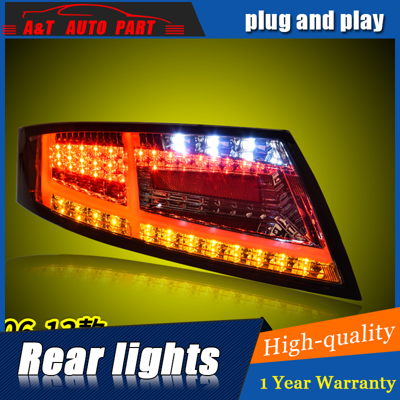 Car Styling LED Tail Lamp for TT Tail Lights 2006-2013 for TT Rear Light DRL+Turn Signal+Brake+Reverse LED light