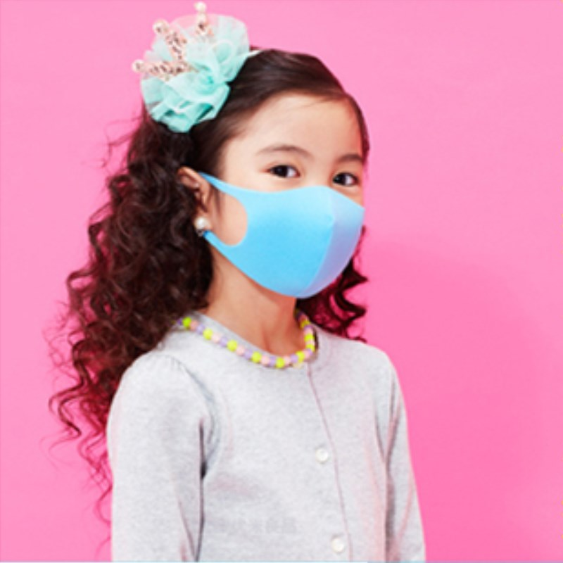DR.ROOS 1Pcs/bag Kids Anti Dust Face Mask Anti Pollution Wind Proof Ful Isolation Masks Blue Red Ziplock Bag Individual Package