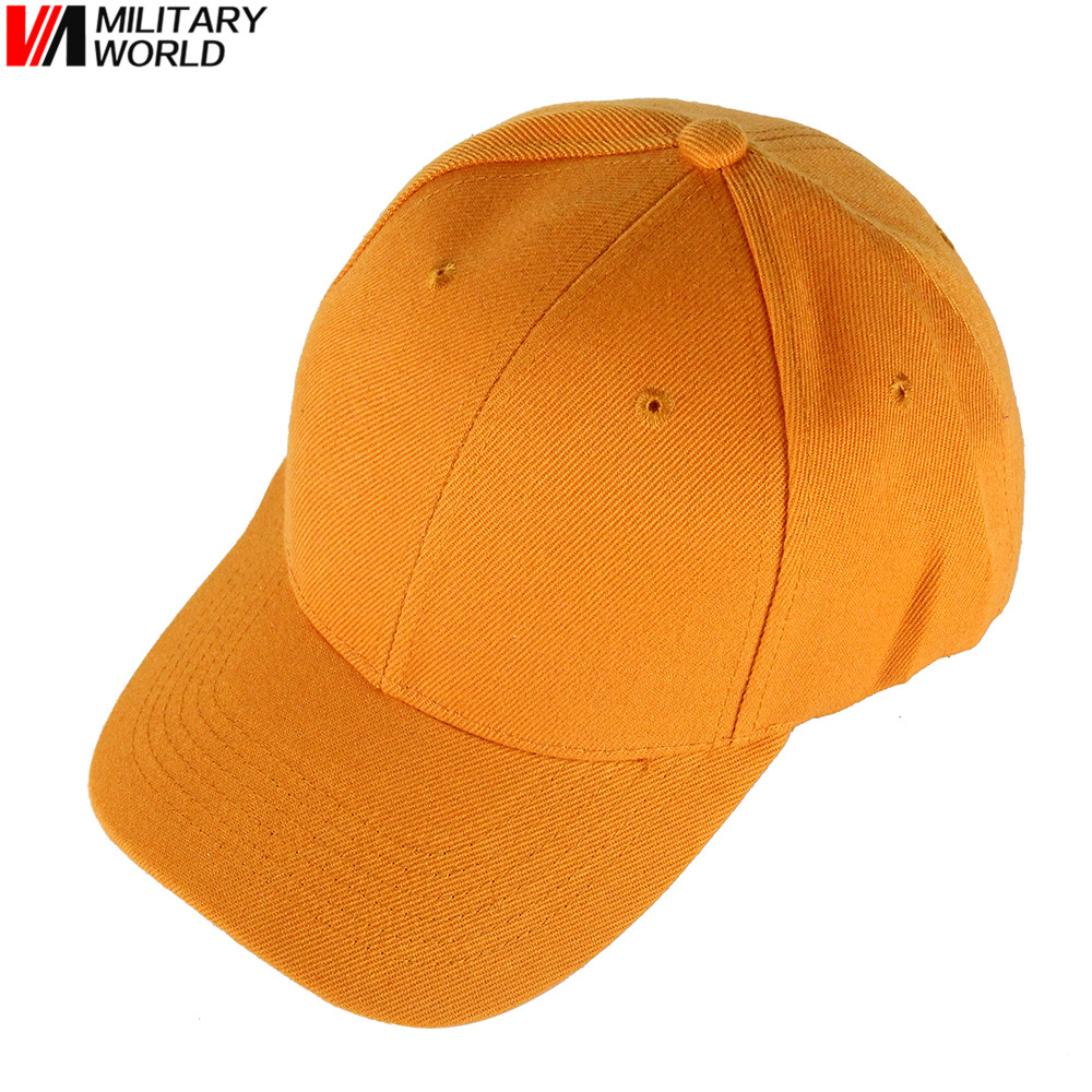 8b05ee3169027 Unisex Summer Breathable Orange Golf Hunting Caps Snapback Baseball Caps  Casquette Sports Outdoor Hunting Cycling Fishing Hat