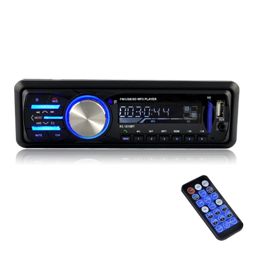Stereo MP3 Player 12V Bluetooth Stereo In-Dash Car Stereo Receiver FM Radio MP3 Audio Player