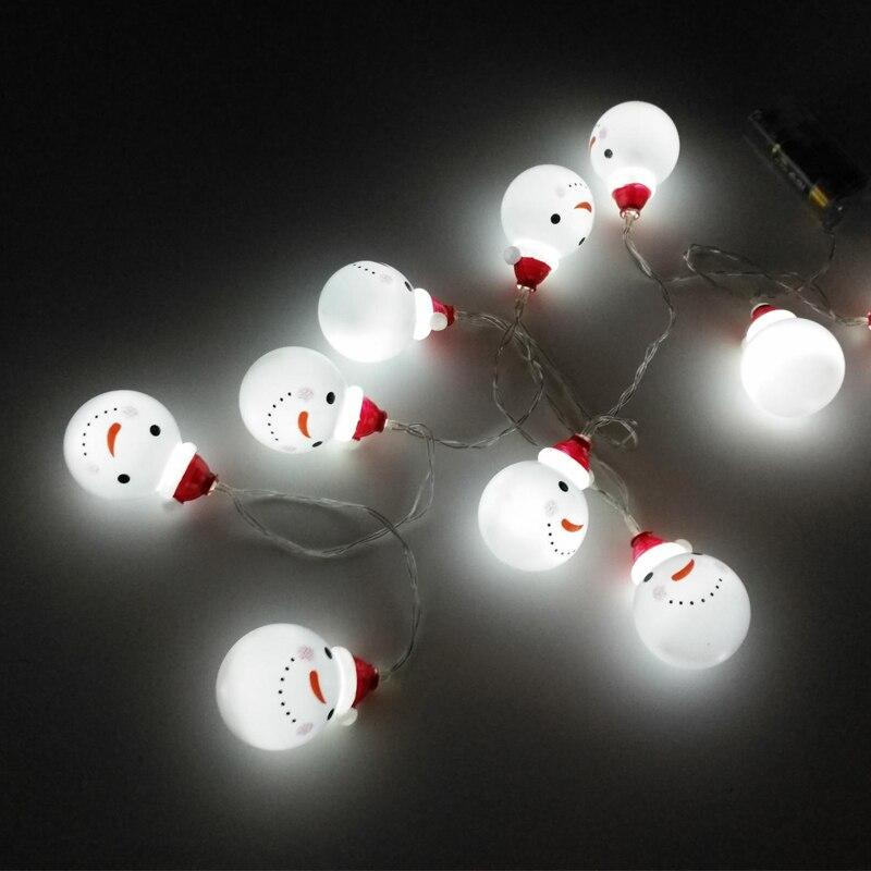 20LED Festivali hediye Kardan Adam Noel Ağacı Dekorasyon kolye - Şenlikli Aydınlatma - Fotoğraf 4