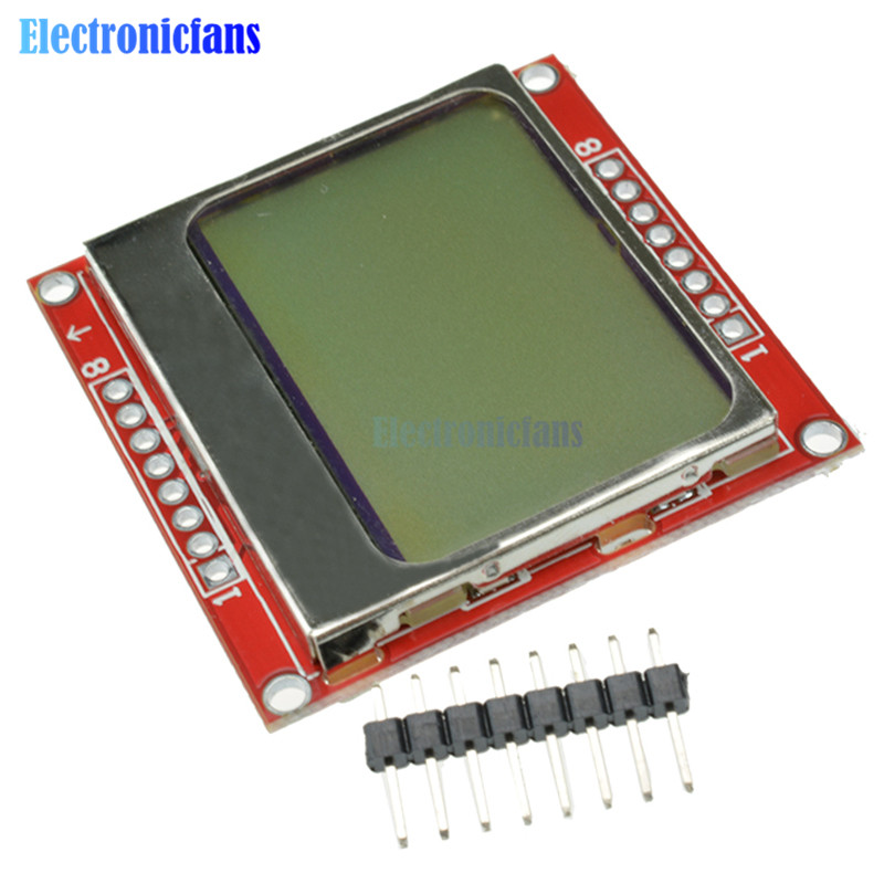 84x48 84*48 5100 LCD Screen Module LCD Display Monitor White Backlight Adapter 3.3V Dot Matrix Digital For Arduino Controller