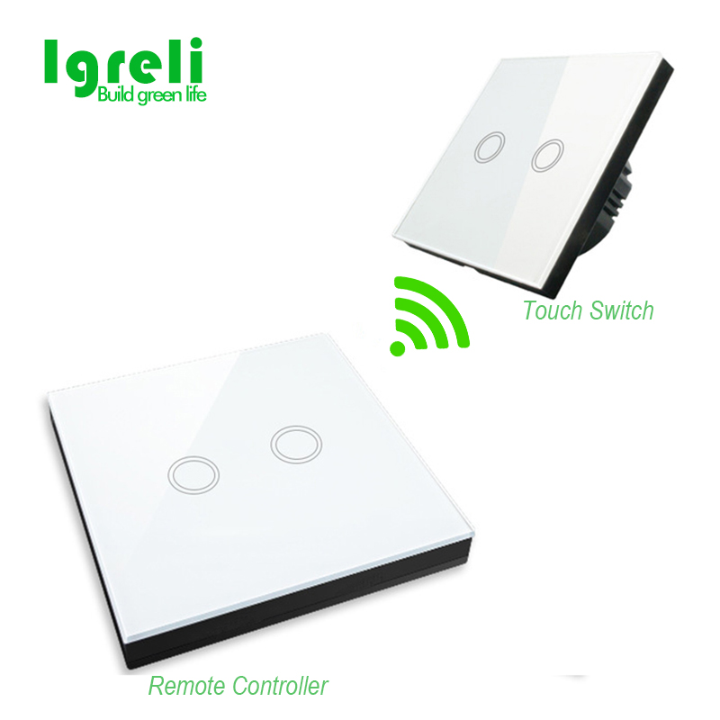 Igreli Eu Standard Light Switches Free Shipping,remote Control Touch Switch For Wall Lights + 2 Buttons Wireless Stick Igreli Eu Standard Light Switches Free Shipping,remote Control Touch Switch For Wall Lights + 2 Buttons Wireless Stick