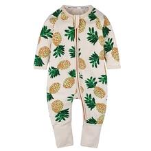 Pineapple Romper Clothing Overalls Spring Newborn Fashion Baby Long-Sleeve Girl Kids
