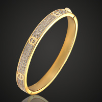 Big Size Zircon Bangles Men Dubai Bride Wedding Ethiopia Bracelet Africa Bangle Fashion Women Cuff Bangles