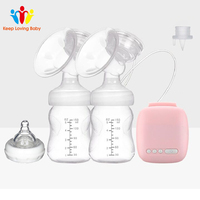 Double Electric breast pumps Powerful Nipple Suction USB Electric Breast Pump With Baby Milk Bottle
