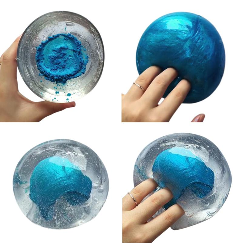 Funny Novelty toy Beautiful Color Mixing Cloud Slime Squishy Putty Scented Stress Kids Clay Toy@20