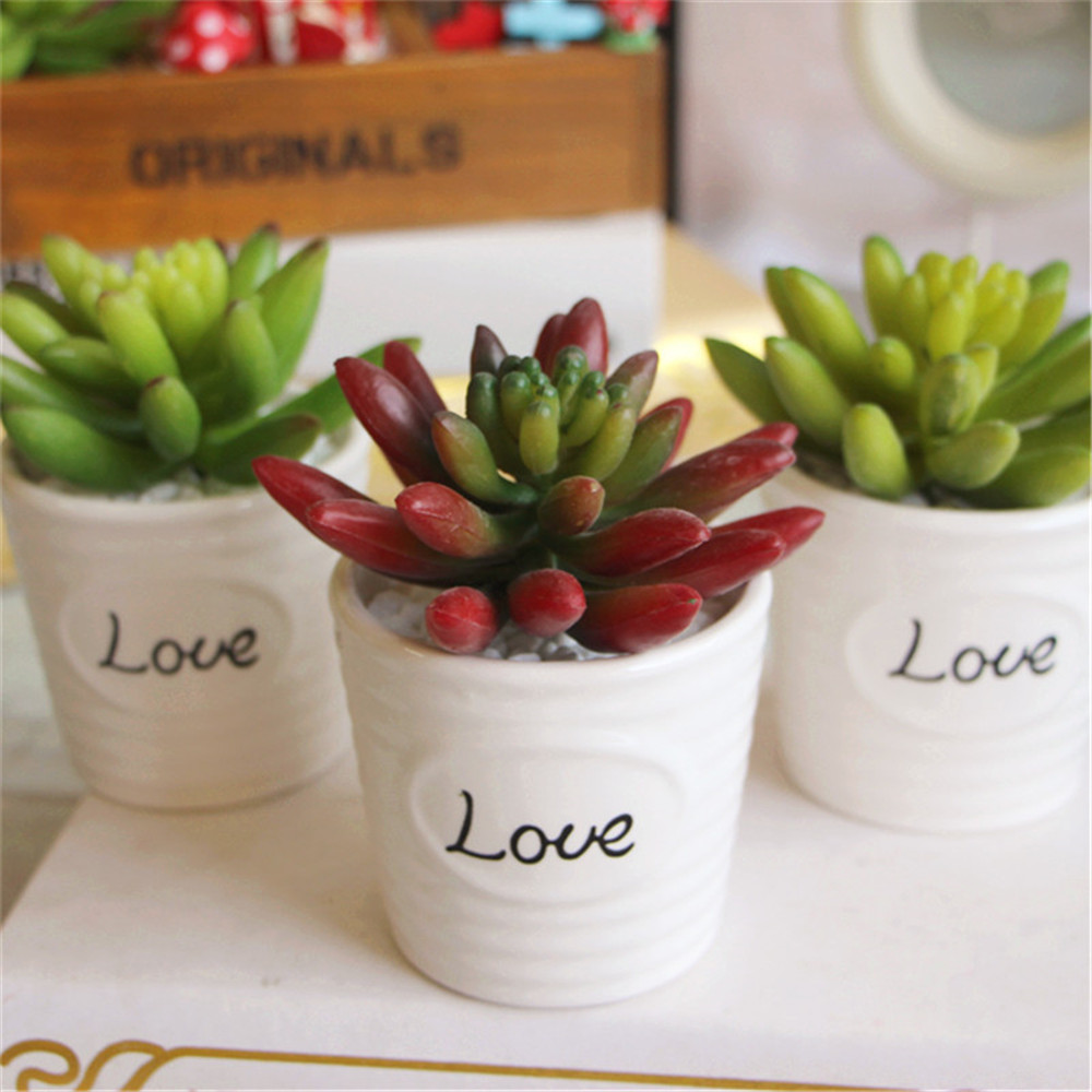 Mini artificial Snowflake Lotus Plants real touch artificial succulents christmas decorations for home Garden Decor fake plants
