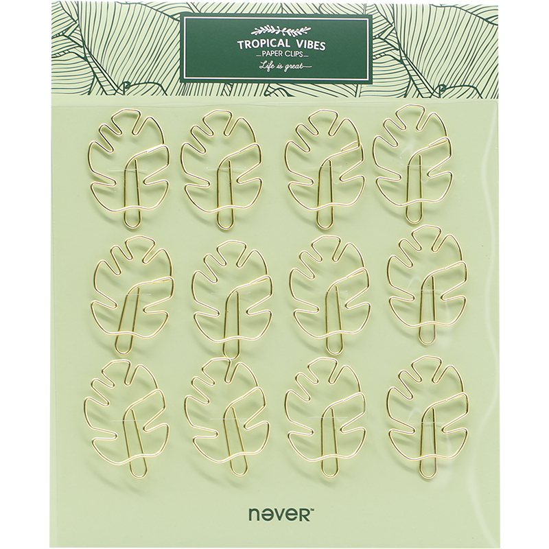 NEVER Plant Series Cactus Flamingo shape Metal Clips Notes Letter Paper Clip Cute Bookmark Planner Tool Office Gift Stationery