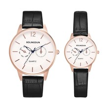 Fashion Simple Classics Black Leather Lover's Watches Creati
