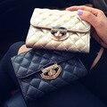Hot Casual Mulheres Messenger Bags Padrão Senhora Embreagem Bolsa de Couro PU Maré Bloqueio Curto Carteira Seta Moda Sacos de Noite