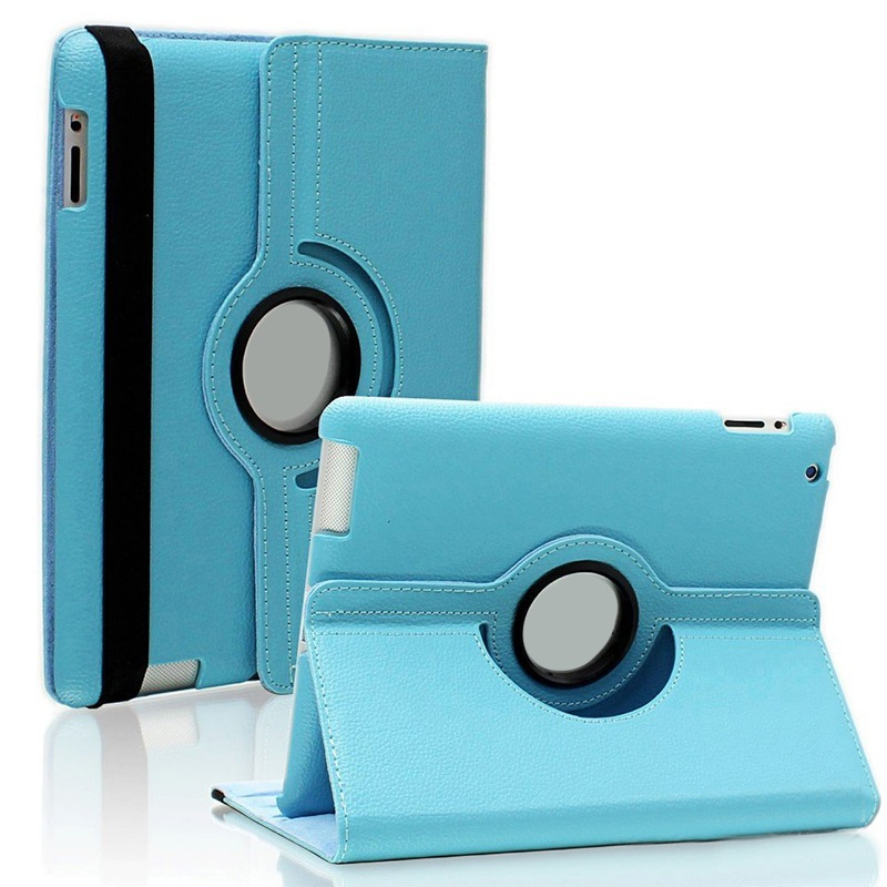 Tablet Case For <font><b>iPad</b></font> <font><b>Mini</b></font> 123 Case 360 Rotation flip PU Leather Case <font><b>A1432</b></font> A1454 A1600 A1490 Smart Cover with Stand Function image