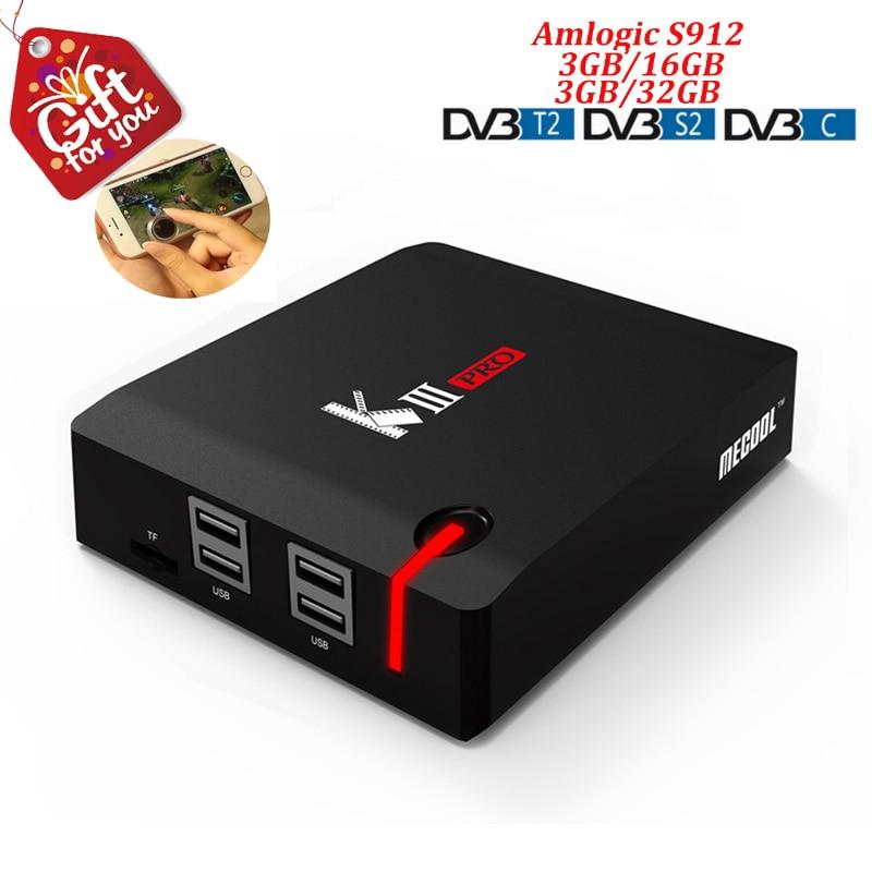 kiii pro Dvb t2 Dvb s2 T2 C Dvb c Dvbt2 Android TV Box Android 7.1 Amlogic S912 Octa Core 3gb DDR4 Ram 16gb Rom k3 Set Top Box