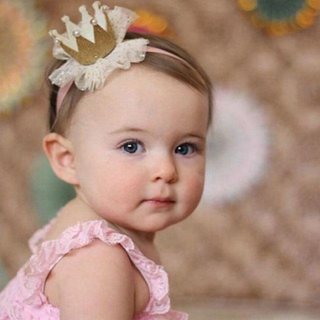Baby Hair Accessories Stereo Princess Floral Crown Hair Band