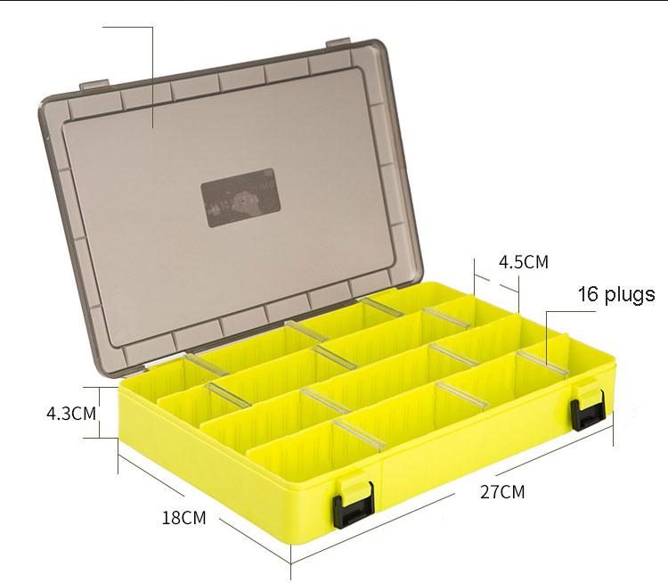 duplo lado armazenamento caixa acessórios pesca minnows isca pesca recipiente b283