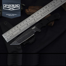 PSRK DC53 Steel Black G10 Handle 59-60HRC Small Fixed Knife T head Outdoor Straight Knife Tactical Camping Tools Edc Knives