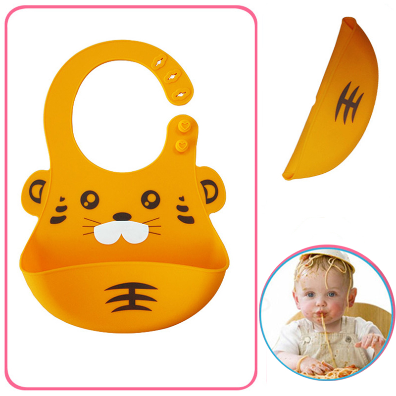 Silicone Baby Bibs Waterproof Bibs Bibs Newborn Feeding Baby Bibs Burp Cloths For Children Self Cute Cartoon Soft Feeding Care